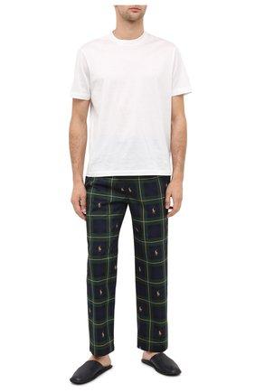 Мужские хлопковые домашние брюки POLO RALPH LAUREN темно-зеленого цвета, арт. 714730610 | Фото 2