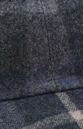 Мужской шерстяная бейсболка LORO PIANA синего цвета, арт. FAL3610   Фото 3