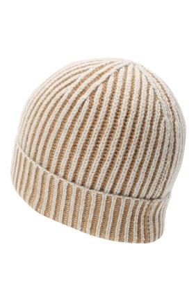Мужская кашемировая шапка LORO PIANA бежевого цвета, арт. FAL4449 | Фото 2