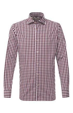 Мужская хлопковая рубашка LUIGI BORRELLI бордового цвета, арт. EV08/NAND0/TS30127 | Фото 1