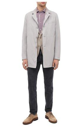 Мужская хлопковая рубашка LUIGI BORRELLI бордового цвета, арт. EV08/NAND0/TS30127 | Фото 2