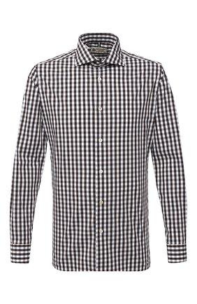 Мужская хлопковая рубашка LUIGI BORRELLI коричневого цвета, арт. EV08/NAND0/TS30127 | Фото 1