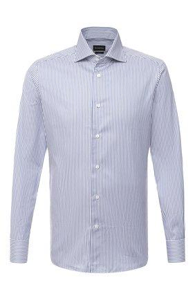 Мужская хлопковая сорочка ERMENEGILDO ZEGNA синего цвета, арт. 801022/9MS0BA | Фото 1