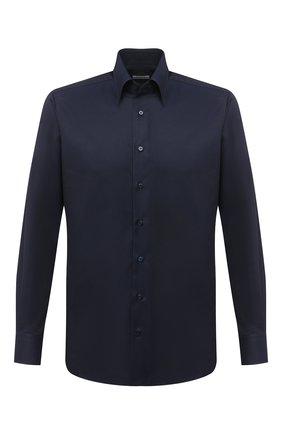 Мужская хлопковая сорочка ZILLI темно-синего цвета, арт. MFU-00702-01077/0001 | Фото 1