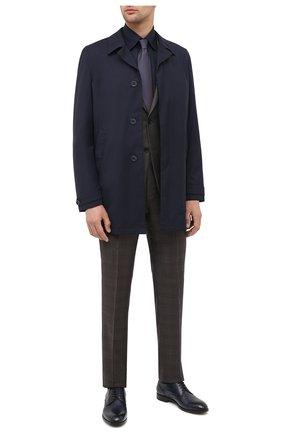 Мужская хлопковая сорочка ZILLI темно-синего цвета, арт. MFU-00702-01077/0001 | Фото 2
