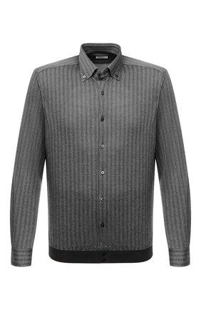 Мужская рубашка из шелка и хлопка ZILLI серого цвета, арт. MFU-00802-66025/0001 | Фото 1