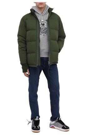Мужская пуховая куртка KENZO хаки цвета, арт. FA650U1281NI   Фото 2
