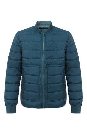 Мужская двусторонняя куртка KENZO бирюзового цвета, арт. FA65BL1111NF   Фото 1
