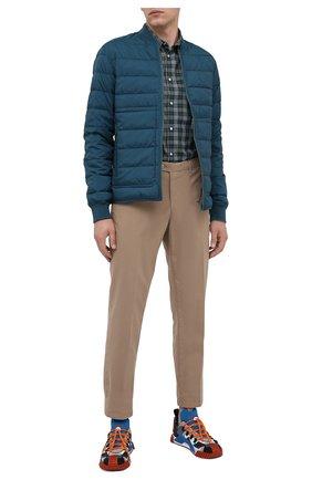 Мужская двусторонняя куртка KENZO бирюзового цвета, арт. FA65BL1111NF   Фото 2