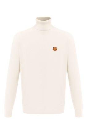 Мужской шерстяной свитер KENZO кремвого цвета, арт. FA65PU5383TA   Фото 1