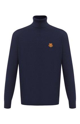 Мужской шерстяной свитер KENZO темно-синего цвета, арт. FA65PU5383TA | Фото 1