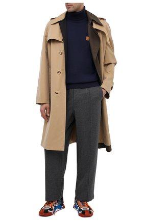 Мужской шерстяной свитер KENZO темно-синего цвета, арт. FA65PU5383TA | Фото 2