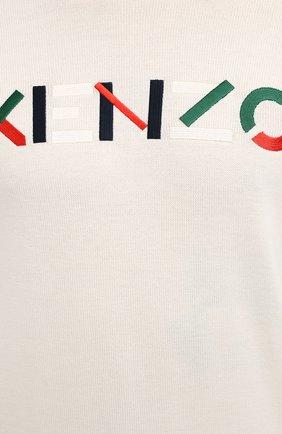 Мужской шерстяной джемпер KENZO кремвого цвета, арт. FA65PU5413LA | Фото 5