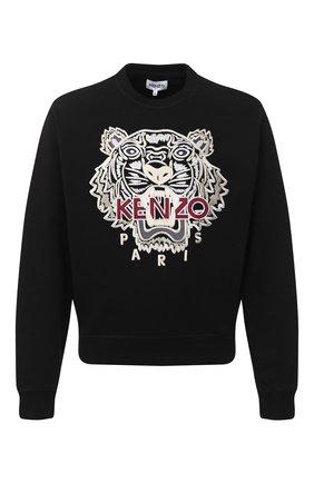 Мужской хлопковый свитшот KENZO черного цвета, арт. FA65SW1114XV | Фото 1