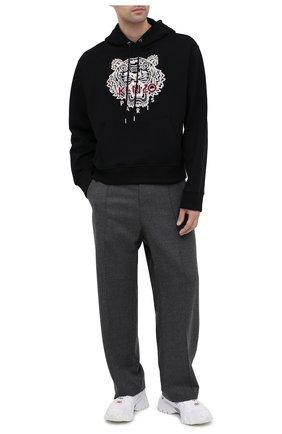 Мужской хлопковое худи KENZO черного цвета, арт. FA65SW3114XV | Фото 2