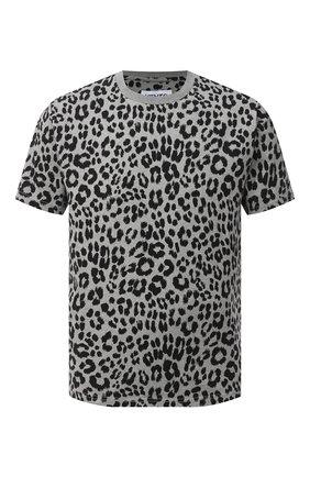 Мужская хлопковая футболка KENZO серого цвета, арт. FA65TS0604JI | Фото 1