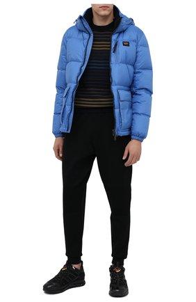 Мужская пуховая куртка PAUL&SHARK голубого цвета, арт. I20P2284/H1T   Фото 2