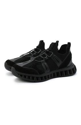Мужские комбинированные кроссовки Z ZEGNA черного цвета, арт. A4624X-LHWSD | Фото 1
