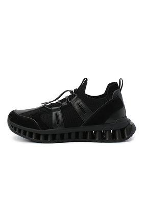 Мужские комбинированные кроссовки Z ZEGNA черного цвета, арт. A4624X-LHWSD | Фото 3