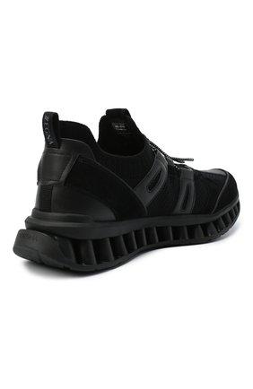 Мужские комбинированные кроссовки Z ZEGNA черного цвета, арт. A4624X-LHWSD | Фото 4