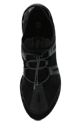 Мужские комбинированные кроссовки Z ZEGNA черного цвета, арт. A4624X-LHWSD | Фото 5