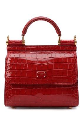 Женская сумка sicily 58 mini из кожи аллигатора DOLCE & GABBANA красного цвета, арт. BB6846/A2R08/AMIS | Фото 1