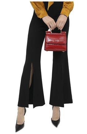 Женская сумка sicily 58 mini из кожи аллигатора DOLCE & GABBANA красного цвета, арт. BB6846/A2R08/AMIS | Фото 2