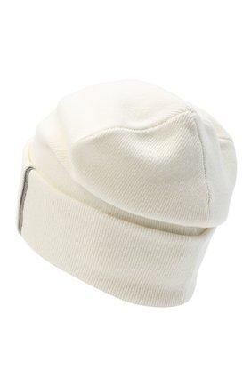 Женская кашемировая шапка BRUNELLO CUCINELLI белого цвета, арт. M12163199 | Фото 2