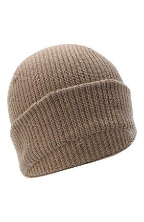 Женская кашемировая шапка BRUNELLO CUCINELLI бежевого цвета, арт. M12717789 | Фото 1