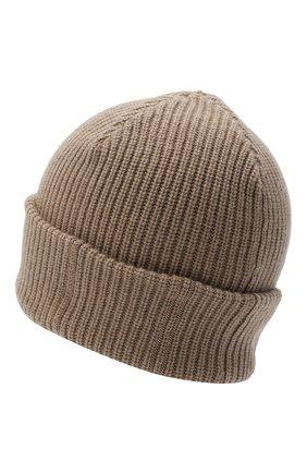 Женская кашемировая шапка BRUNELLO CUCINELLI бежевого цвета, арт. M12717789 | Фото 2