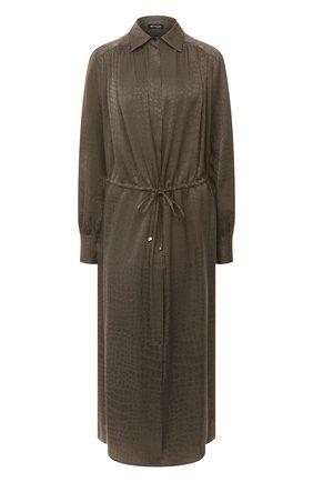 Женское шелковое платье KITON хаки цвета, арт. D50329K05T65 | Фото 1