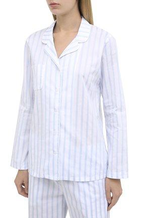 Женская хлопковая пижама DEREK ROSE голубого цвета, арт. 2029-CAPR017 | Фото 2