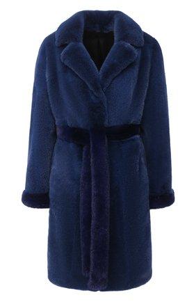 Женская шуба из меха норки KUSSENKOVV синего цвета, арт. 700100016503 | Фото 1