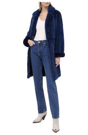 Женская шуба из меха норки KUSSENKOVV синего цвета, арт. 700100016503 | Фото 2