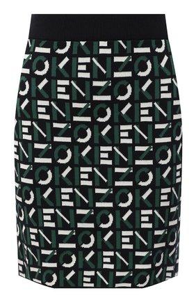 Женская юбка kenzo sport KENZO зеленого цвета, арт. FA62JU5313SC | Фото 1