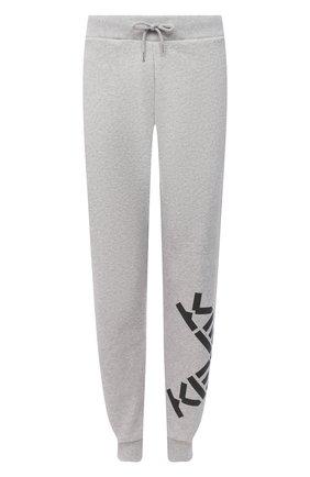 Женские хлопковые джоггеры kenzo sport KENZO серого цвета, арт. FA62PA7224MS | Фото 1