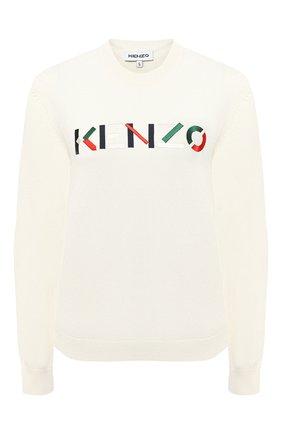 Женский шерстяной пуловер KENZO кремвого цвета, арт. FA62PU5413LA | Фото 1