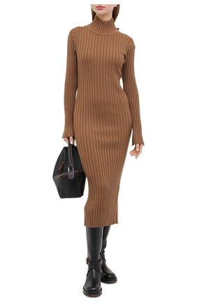 Женское шерстяное платье KENZO коричневого цвета, арт. FA62R05053AJ | Фото 2