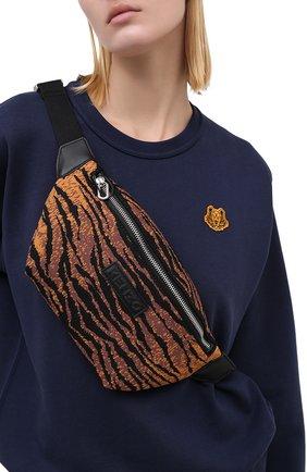Женская поясная сумка skuba KENZO коричневого цвета, арт. FA62SA522F11 | Фото 2