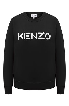 Женский хлопковый свитшот KENZO черного цвета, арт. FA62SW8214MD   Фото 1