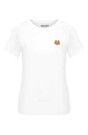 Женская хлопковая футболка KENZO белого цвета, арт. FA62TS8434SJ | Фото 1