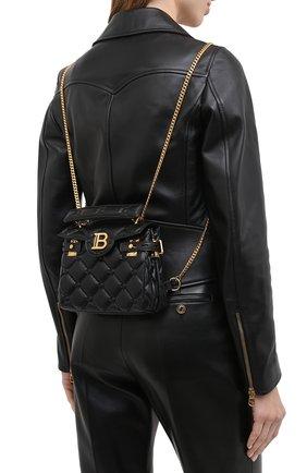Женский рюкзак BALMAIN черного цвета, арт. UN1S493/LNPW | Фото 2