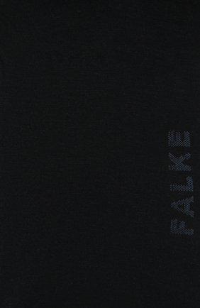 Женские хлопковые носки FALKE темно-синего цвета, арт. 46156   Фото 2 (Материал внешний: Хлопок)