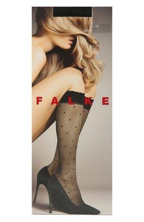 Женские капроновые гольфы dots FALKE черного цвета, арт. 41852 | Фото 1