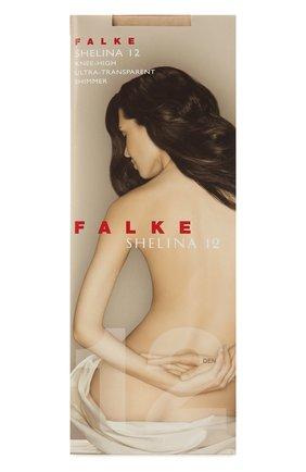 Женские капроновые гольфы FALKE темно-бежевого цвета, арт. 41726 | Фото 1