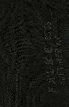 Женские гольфы softmerino FALKE черного цвета, арт. 47438 | Фото 2