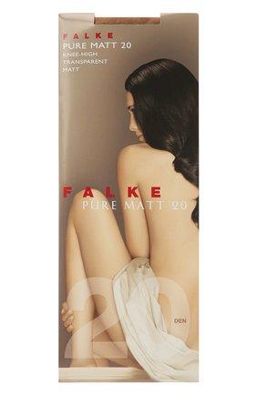 Женские капроновые гольфы pure matt FALKE светло-бежевого цвета, арт. 41712 | Фото 1