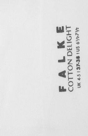 Женские хлопковые носки FALKE белого цвета, арт. 47535 | Фото 2