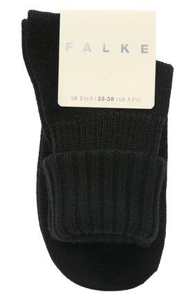 Женские шерстяные носки FALKE черного цвета, арт. 47520   Фото 1 (Материал внешний: Шерсть, Синтетический материал)
