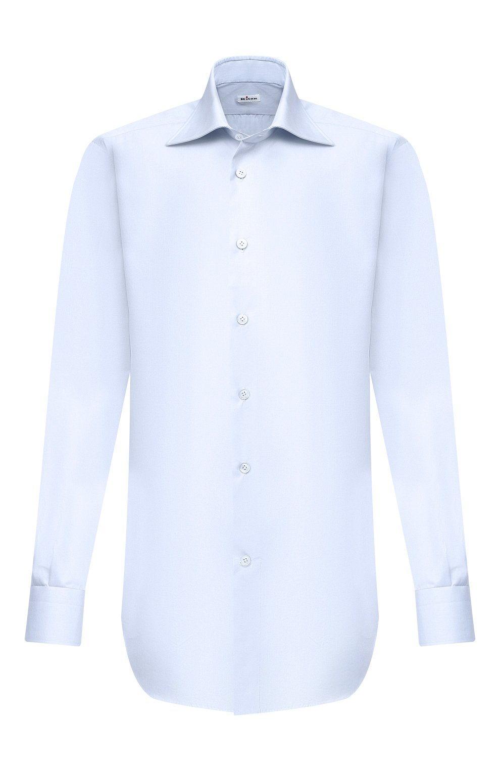 Мужская хлопковая сорочка KITON светло-голубого цвета, арт. UCIH0660702 | Фото 1